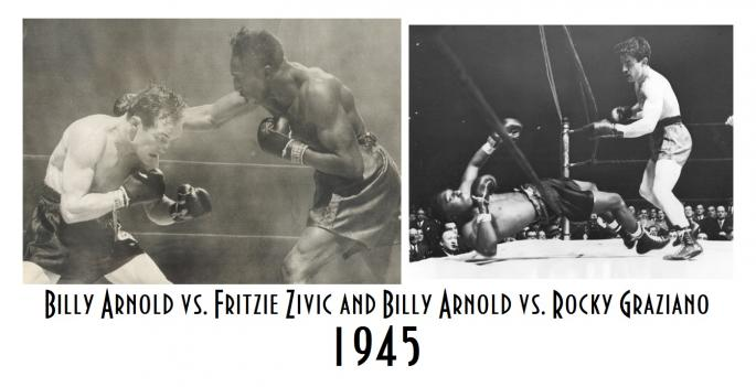 Billy_Arnold_Fritzie_Zivic_and_Billy_Arnold_vs._Rocky_Graziano_1945_